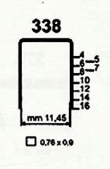 Čalounické spony 338/16 ZN 140 (delší návin)