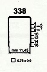 Čalounické spony do sponkovačky 338/05 ZN